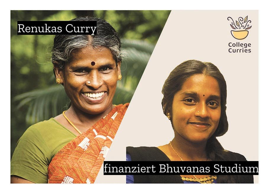 Renukas Curry finanziert Bhuvanas Studium